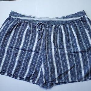 Terra Sky blue striped shorts size 24W-26W-3X